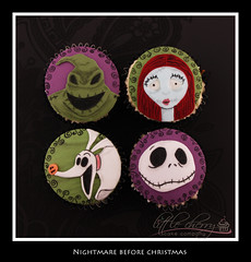 Nightmare Before Christmas Cupcakes (Little Cherry Cake Company) Tags: christmas xmas cake cherry jack cupcakes little before sally company boogie nightmare tracey zero oogie skellington bacup tcakes