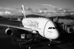 388 (©skarson) Tags: china bw white black canon hongkong emirates airbus lantau cheklapkok airbusa380 hkia hongkonginternationalairport a380800 airbusa380800 canontse45mmf28
