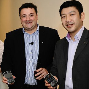 Francois Mahieu, Head of Product Management for RIM in Asia Pacific with the Bold 9900.
