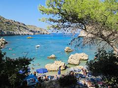 Baia di Anthony Quinn (Antonio_Cirillo) Tags: travel sea summer beach mare estate greece grecia rodos spiaggia rodi anthonyquinnbay canonixus115hs