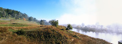 down by the river (MadCoreyPhotography) Tags: morning mist water river panoramic nsw snowymountains khancoban swampyplainsriver panoramicnswsnowymountains khancobanriver