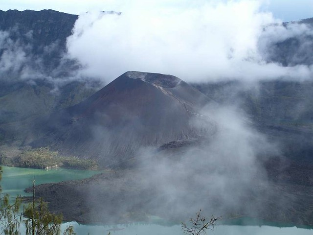 Gunung Baru, in the crater lake of Gunung Rinjani, Lombok