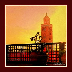 La Koutoubia. Marrakech (nuska2008) Tags: africa travel atardecer interesting flickr marrakech marruecos vacaciones panasonicdmcfx2 mezquitas lakoutoubia noblearchitecture saariysqualitypictures lugardeinters nuska2008 nanebotas efectotexturado