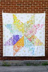 Giant Vintage Star Quilt (Jeni Baker) Tags: floral modern vintage bed quilt recycled handmade linen sewing august sheets retro fabric madison quilting finished stitching sheet block projects quilts crafting bedding repurposed reclaimed bedsheet bedsheets reused linens 2011