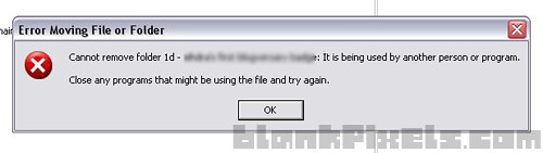 Error moving file or folder on Windows - blankpixels.com