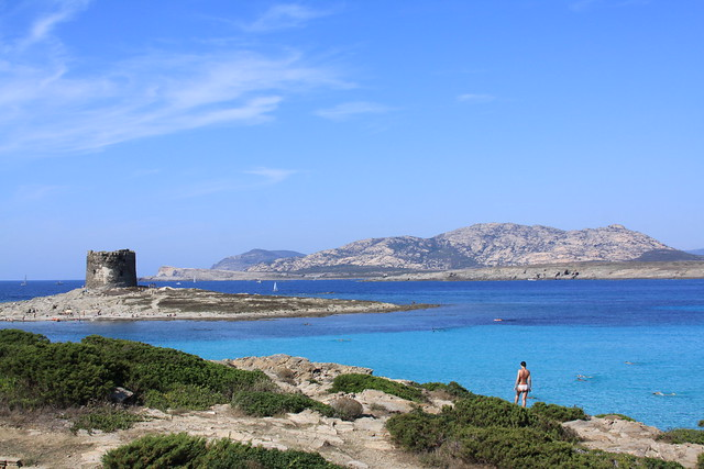 Spiaggia della Pelosa and Isola Piana (with tower) and Isola Asinara in the background. A true dreamscape to me.