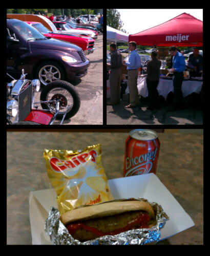 Ptw Classic Car show and free lunch at work parkinglot today.