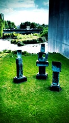 The Family Of Man, The Hepworth Wakefield (firstnameunknown) Tags: camera bridge sculpture art river gallery artgallery modernart calder wakefield hepworth barbarahepworth familyofman soemo chantrychapel iphoneography