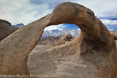 Afternoon light on Mobius Arch, Alabama Hills (Eastern Sierra) (Robin Black Photography) Tags: light texture clouds highway pretty cloudy famous ngc scenic hwy boulders highdesert granite mtwhitney polarizer sierranevada lonepine iconic naturesbest highsierra nationalgeographic owensvalley diffuse 395 rockformation easternsierra alabamahills lonepinepeak movieroad nicesky singhray rangeoflight outdoorphotographer mobiusarch canon5dmarkii robinblackphotography whitneycrest