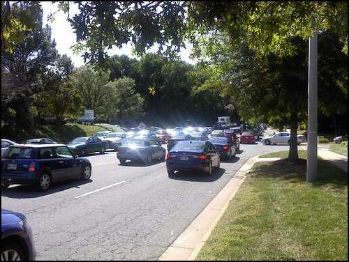 Tysons gridlock on Jones Branch Drive