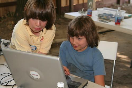 Waldorf Boys Learning Computers