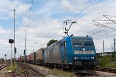 Destinazione Italia... (Damiano Piovanelli) Tags: merci zug treno bombardier lok traxx treni locomotiva br185 transped 185514 traxx1 1855147