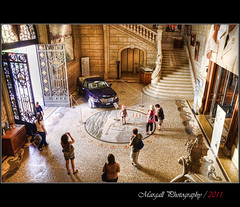Entrance of Oceanographic Museum - Monaco - HDR (Margall photography) Tags: wedding people car museum photography entrance montecarlo monaco alberto marco museo hdr charlene oceanografico oceanographic galletto margall