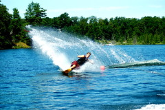 Skiing Rush Lake (Erica Aarons) Tags: summer ski water sl slalom waterski slalomcourse