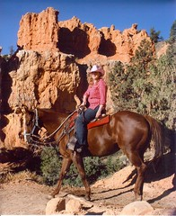 Sassy and Me on the trail (jinjurblythe) Tags: sassy canyon bryce