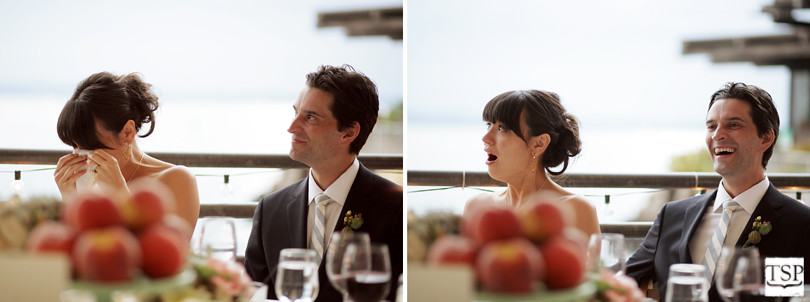 Bride and Groom Toast Reactions