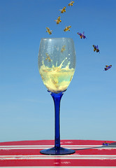Wine Enthusiasts (Peter Femto) Tags: animals composition insect wine bees insects manipulation montage photomontage wineglass honeybee whitewine insekten wein biene composing weinglas pollinator weisswein nikond300