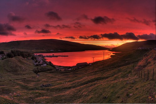 Shetland Sunset by James Simison