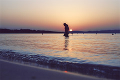 In a romantic way (mickiky) Tags: sardegna sunset sea summer sun beach water couple tramonto mare estate view walk romantic sole acqua spiaggia romantico coppia cammino