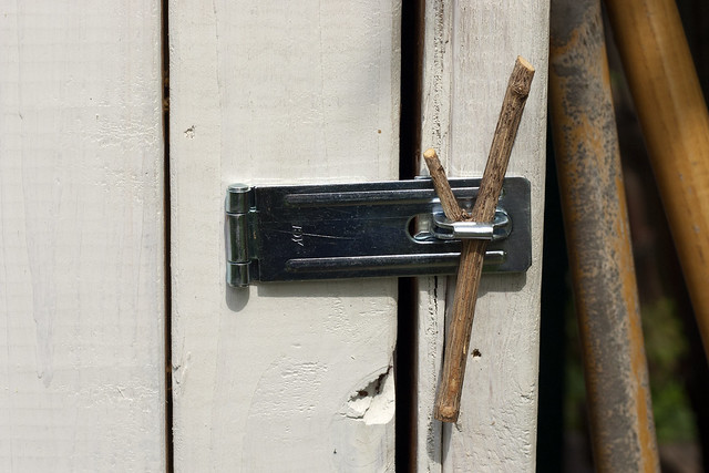 lock on garden shed