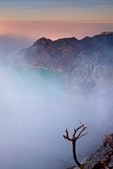 Fog... (Helminadia Ranford(New York)) Tags: travel lake fog sunrise indonesia landscape volcano java hiking smoke crater ijen kawah