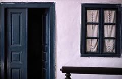 Oia - Santorini Island - Greece - 1982 (Ioannisdg) Tags: travel summer vacation film beautiful island 1982 europe hellas slide santorini greece scanned kodachrome slides nikonf3 oia ellada ioannisdg ioannisdgiannakopoulos