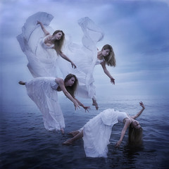 Resurrection (Leah Johnston) Tags: ocean water canon flying novascotia leah fineart floating levitation spirits angels dreams 5d ghosts demonic portfolio angelic atlanticocean possession johnston hovering deities mkii wakinglife resurrection reincarnation levitate whitedress waterygrave