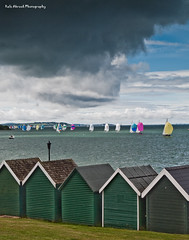 Cowes Week (Rafe Abrook Photography) Tags: sea cloud storm beach boat sailing yacht olympus racing shore isleofwight solent e3 spinnaker cowes beachhuts cowesweek iow gurnard