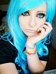 blue emo scene hair style bibi barbaric german sitemodel ( BiBi BaRbArIc ) Tags: blue girl make up hair eyes emo scene bibi piercings barbaric sitemodel