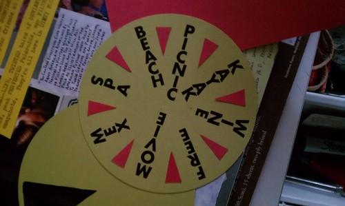 Wheel of birthday week, in progress
