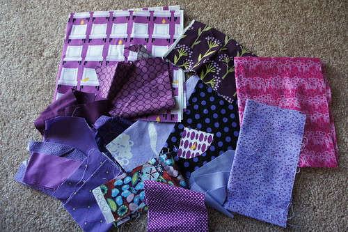 Purple Scrap Destash