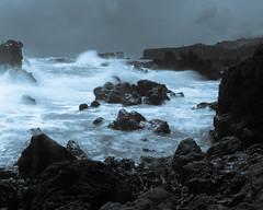 Angry Sea (josh_in_yyc) Tags: longexposure rocks waves maui 8x10 shore duotone
