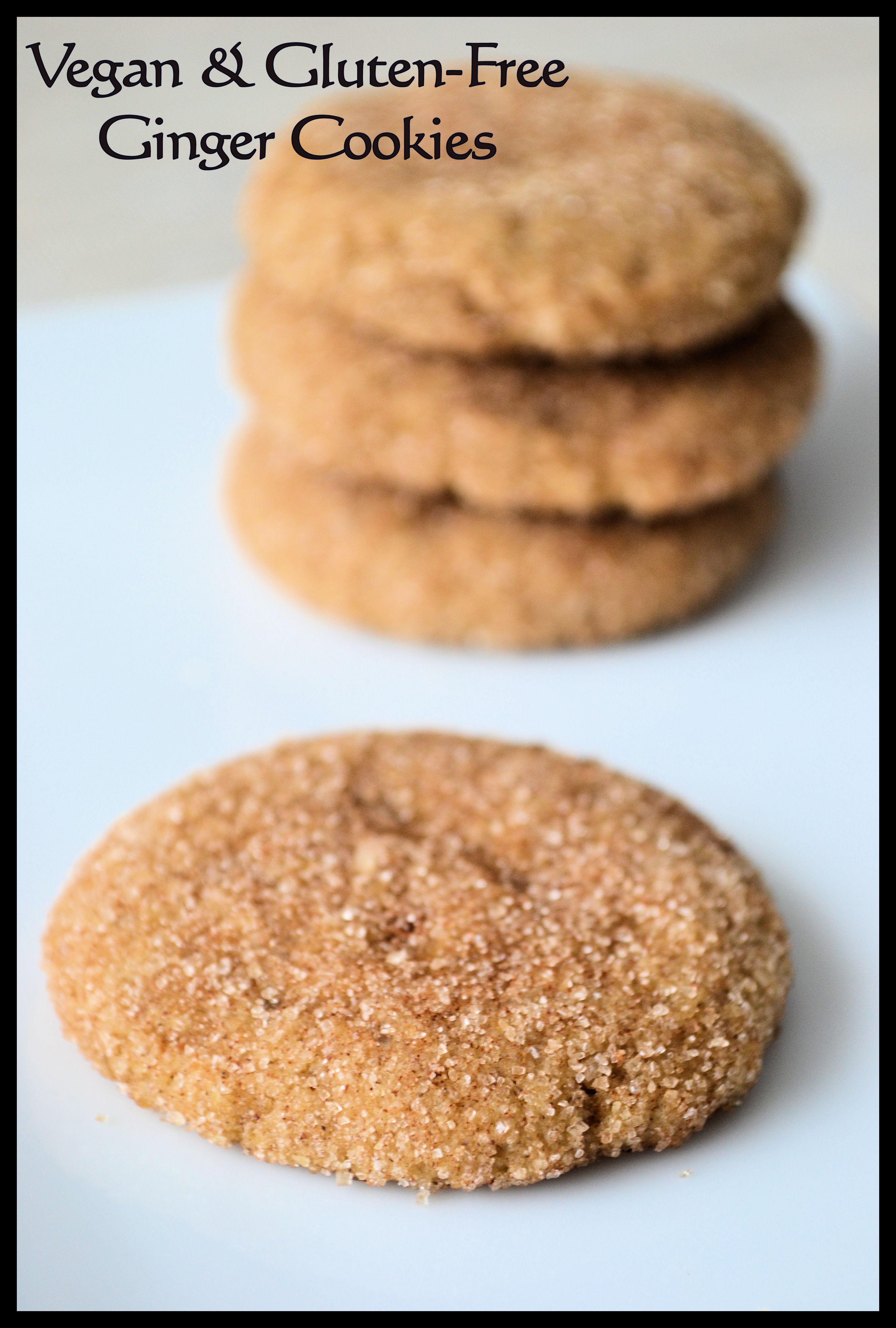 Vegan & Gluten-free Ginger Cookies