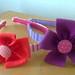 tiara flor laço feltro