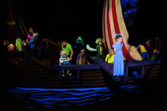 Walt Disney World - Peter Pan's Flight (Todd Hurley (Todd_H)) Tags: classic pirates cartoon disney nostalgia blacklight nostalgic wendy challenge themepark attraction fantasyland lostboys captainhook darkride imagineering themagickingdom peterpansflight wedenterprises