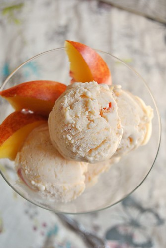 Grilled Peaches Ice Cream