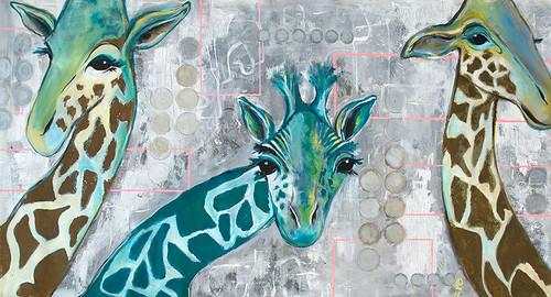 """""""Giraffer der kigger ind"""" af Lilian Dufke"""