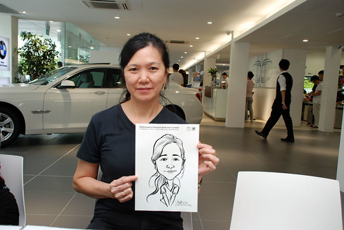 Caricature live sketching for Performance Premium Selection first year anniversary - day 2 - 24