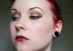 IMG_0112 (Plan_H) Tags: portrait brown selfportrait vintage inspired plum makeup lips bold