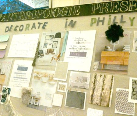 Holly Becker's Moodboard at Anthropologie Decorate Event in Philly