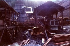 Diesel powered sawmill - circa 1957 ... (Curt Deatherage) Tags: california hayfork teepeeburner wigwamburner highpointlumbercompany dieselpoweredsawmill