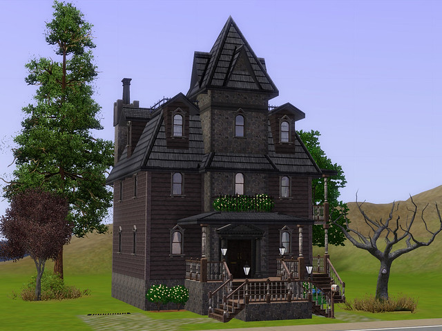 a little gothic - spooky victorian home for download (basegame, no