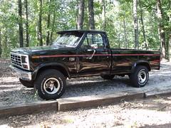 1985 Ford F150 4x4 (2011) (stevenbr549) Tags: black ford truck bed long 4x4 4wd f150 1985 lwb