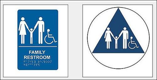 Astonishing Pasadena Glendale Sign Co Ada Family Bathroom Signs Home Remodeling Inspirations Basidirectenergyitoicom