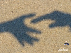 Help you. (Jeroen Hensen) Tags: strand schaduw zon zand delen geven 2011 hulp hensen ontvangen
