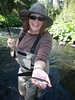 Cheryl with her first fly caught fish
