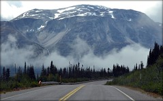 Alaska - Klondike Highway - Mountain (blmiers2) Tags: road travel white mist mountain snow mountains green nature fog alaska landscape photo nikon highway explore klondikehighway d3100 blm18 blmiers2
