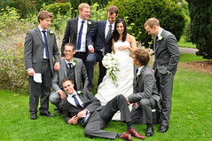 the lads (& Joy) (Margaret Stranks) Tags: uk wedding groom bride saturday oxford ushers headington danjoy 2011 buryknowlepark 3rdseptember danieljoyswedding
