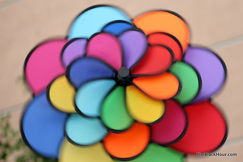 Blurred pinwheel