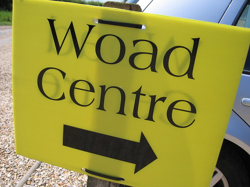 Woad centre sign